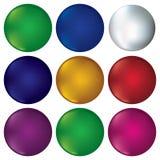 Set of buttons, design elements. Stock Photos