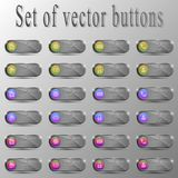 Set of buttons.Different characters stock illustration