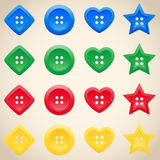 Set of buttons in different colors Royalty Free Stock Photo