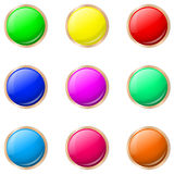 Set of buttons in different colors. Vector illustration set of colored buttons vector illustration