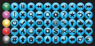 Set of buttons. On different subjects Royalty Free Stock Photos