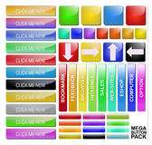 Web Elements Vector Button Set Royalty Free Stock Images
