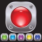 Set of buttons fastened by screws. For various design artwork vector illustration