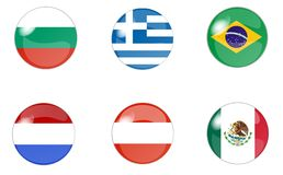Set of buttons with flag 2 Royalty Free Stock Photography