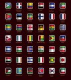 Set of buttons with flags. Part D-K Royalty Free Stock Photography
