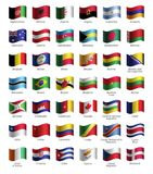 Set of buttons with flags Royalty Free Stock Images