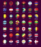 Set of buttons with flags Royalty Free Stock Photography