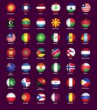 Set of buttons with flags Royalty Free Stock Photo