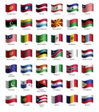 Set of buttons with flags Stock Images