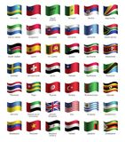 Set of buttons with flags Royalty Free Stock Image