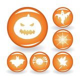 A set of buttons for Halloween Royalty Free Stock Image