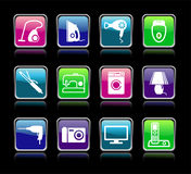 Set buttons of home appliances Royalty Free Stock Images