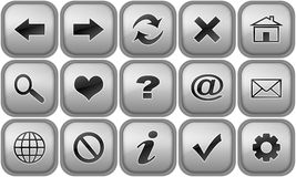 Set of buttons for internet browser Stock Images