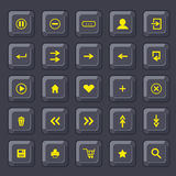 Set of buttons. internet icons Royalty Free Stock Photography