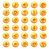 Set of buttons. For mobile development, casual games, UI kit vector illustration