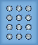 Set of buttons with number. Vector design elements vector illustration