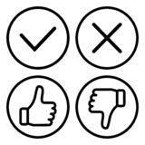 Set of buttons, outline design. Vector vector illustration
