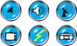 Set buttons - Radio devices Royalty Free Stock Images