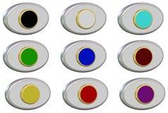 Set buttons Stock Photos