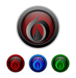 Set of buttons with symbol of a drop inside. Vector illustration Royalty Free Stock Photography