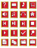 A set of buttons with symbols Stock Image