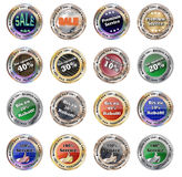 Set of Buttons - template full editable Vector Royalty Free Stock Image