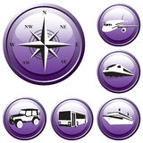 Set of the buttons. Trip. Vector. Stock Photos
