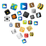 Set buttons variety global communicate elements. Illustration Royalty Free Stock Photography