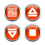 A set of  buttons. Vector. Royalty Free Stock Photos