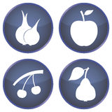 Set of buttons with vegetables and fruits Royalty Free Stock Images