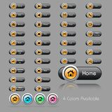 Set of buttons for web aplications Royalty Free Stock Photo