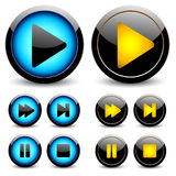 Set of buttons for web design. Royalty Free Stock Photography