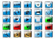Set buttons for web. vector. eps10 Stock Images