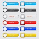 Set of buttons for website and application royalty free illustration