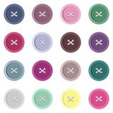 set of buttons on white Royalty Free Stock Photography