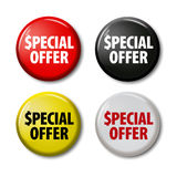 Set of buttons with words `Special Offer` Royalty Free Stock Images