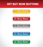 Set Buy Now Buttons. Vector EPS Stock Images
