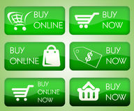 Set of buy online buttons Royalty Free Stock Photography