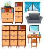Set of cabinets and other furnitures Stock Photography