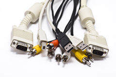 Set Cables Royalty Free Stock Photography