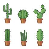 Set of cactuse Royalty Free Stock Photography