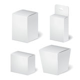 Set of cadrboard package  box on the white background. m Stock Photos