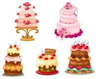 Set of cake royalty free illustration