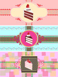 Set of cake cards template Stock Photos