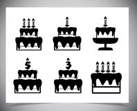 Set of Cake icons. Stock Image