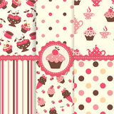 Set of cake patterns Royalty Free Stock Photography