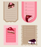 Set of Cake Tags Stock Images