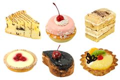 Set of cakes Stock Photography