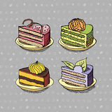 Set of cakes Royalty Free Stock Image