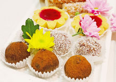 Set of cakes and cookies Royalty Free Stock Images